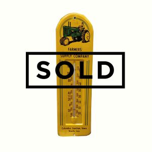 1940' John Deere Metal Thermometer Farmer's Supply Company