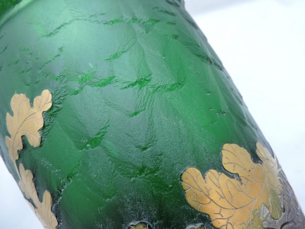 "13"" Art Glass Vase Signed Frederic Goldscheider"