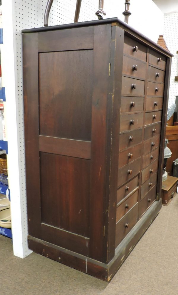 Double Lock Side Valuable Case with 22 Drawers c. 1860