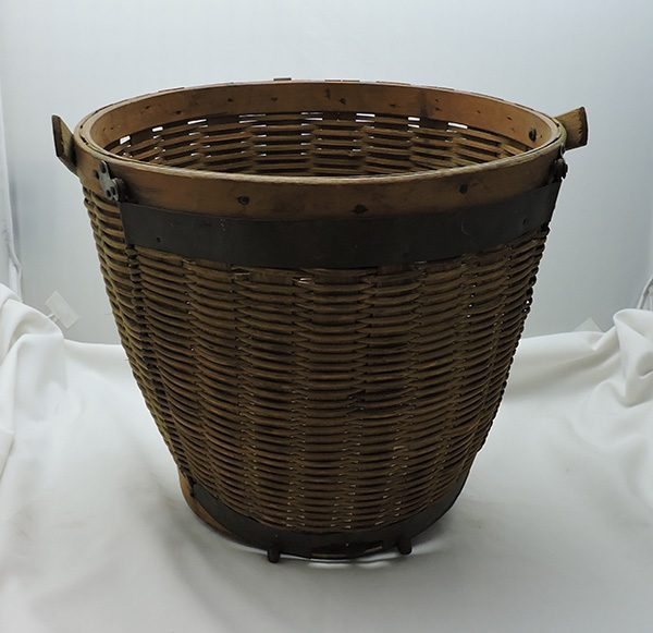 Unique Antique Side Dump Gathering Basket