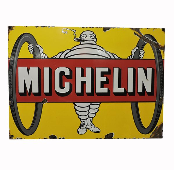Vintage Michelin Porcelain Sign