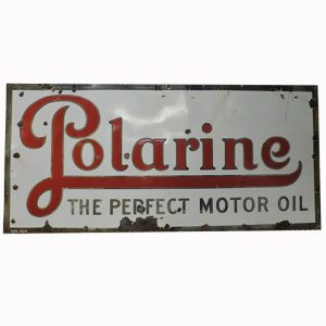 Large Vintage Polarine Motor Oil Sign