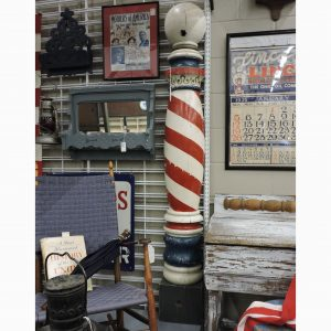 Early Wooden Barber Pole