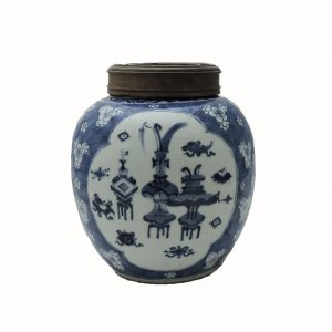 Blue and White Porcelain Lidded Jar