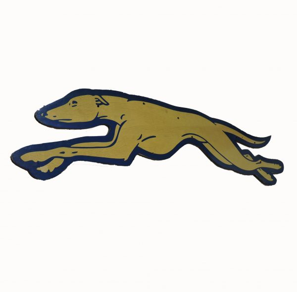 """65"""" Large Wooden Greyhound Bus Sign"""