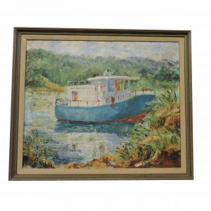 Oil on Canvas of Boat by Blacklock