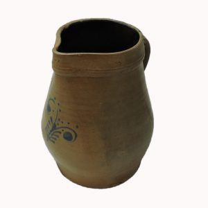 Large Stoneware Pitcher Circa 1880 with Cobalt from York, Maine