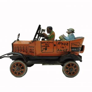 Marx Co. Amos and Andy Fresh Air Taxi Cab Toy Tin Litho