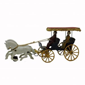 Cast Iron Surrey with 2 Horses, Driver and Passenger