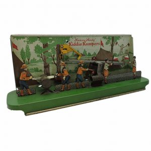 """Sunny Andy"" Kiddie Kampers Tin Litho Toy"