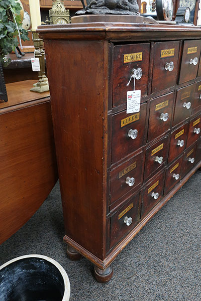 Vintage Apothecary Cabinet with Drawers