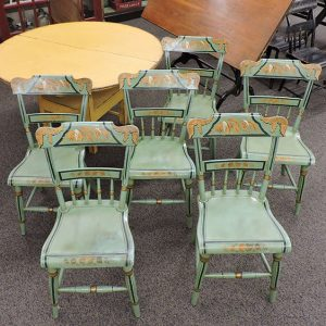 Set of 6 Pennsylvania Painted Chairs