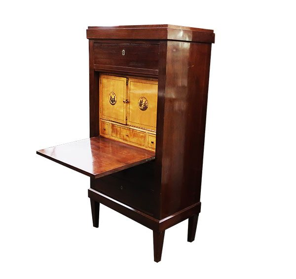 Mahogany Secretaire Abattant with Marquetry