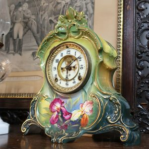 Ansonia Oren Porcelain Clock Royal Bonn Case