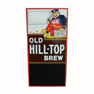 Large Hilltop Beer Tin Sign with Original Wood Frame-48""