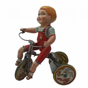 1930's Kiddy Cyclist Tin- Wind Up
