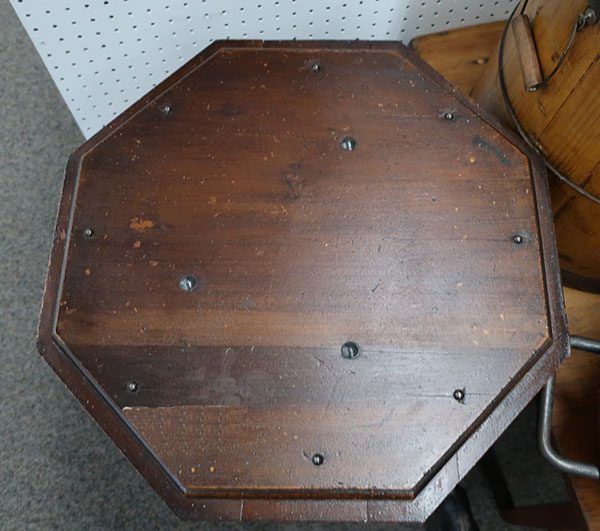 Vintage Octagon Shaped Hardware Cabinet