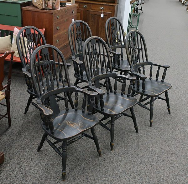 Set of 6 English Oak Windsor Chairs
