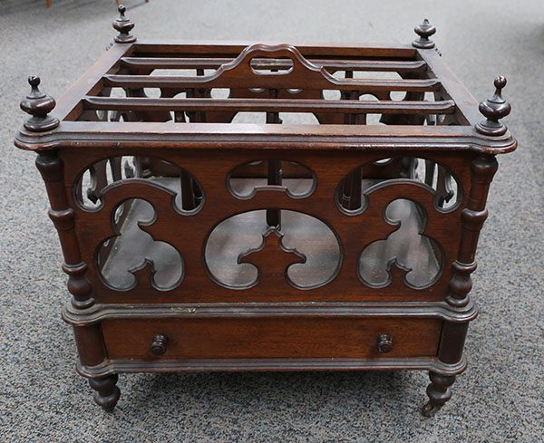 Antique Walnut Victorian Canterbury