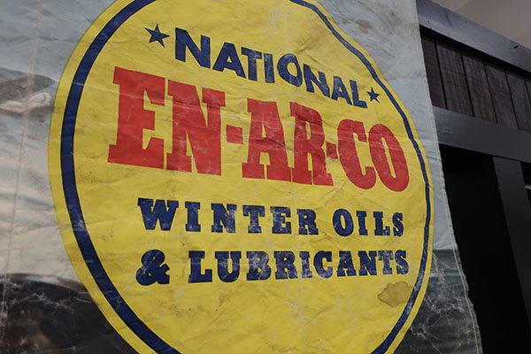 "Vintage ""En-Ar-Co"" Banner for Winter Oil Lubricants"