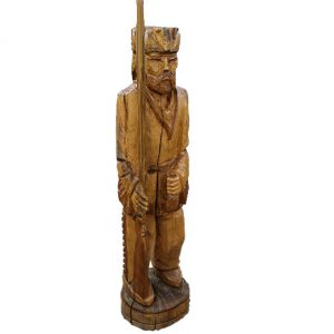 Hand Carved Wood Statue of Davey Crockett