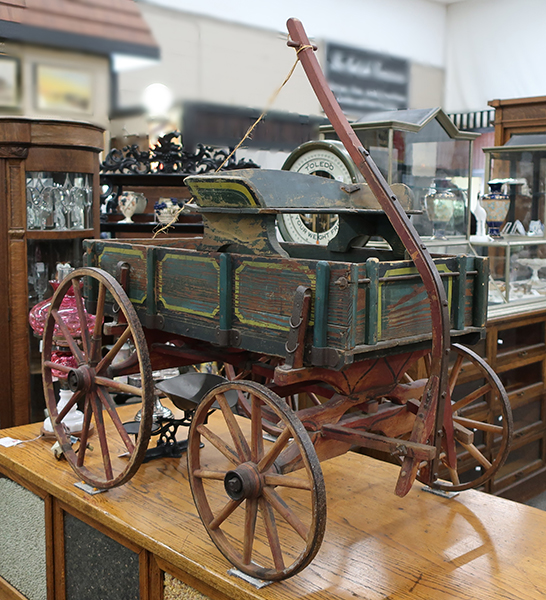 Early Made Wooden Paint Wagon