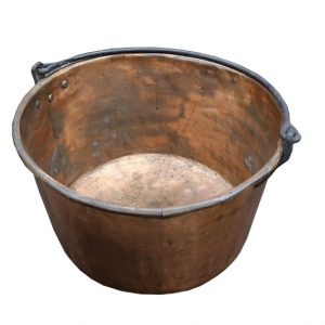 Large Copper Pot with Handle