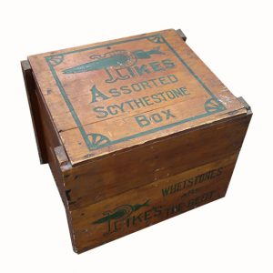 Vintage Pike's Whet Stone Store Box