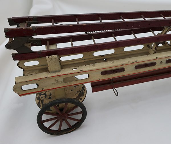 Large Kingsbury Wind-up Fire Ladder Truck with Driver