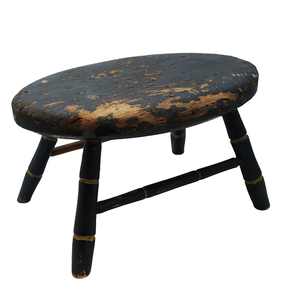 Early Wooden Windsor Stool
