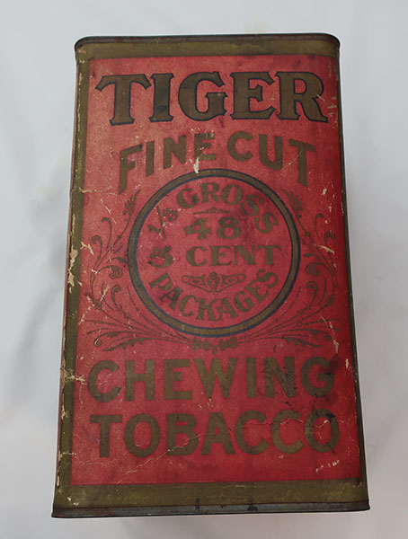 Early Red Tiger Tobacco Cardboard Canister