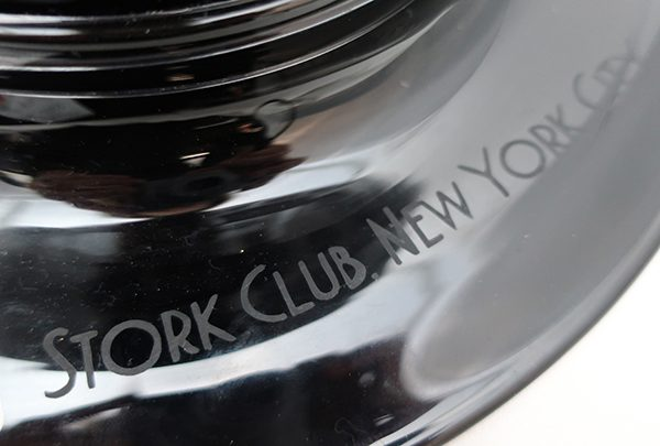 1960's Stork Club New York Top Hat Cigars Art Glass