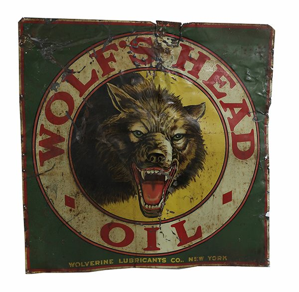 Early Advertising Tin Litho for Wolverine Lubricants