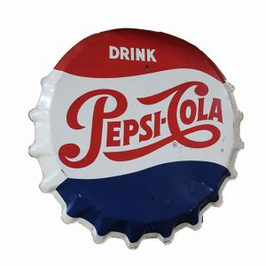 "1960's 30"" Red, White & Blue Pepsi Bottle Cap"