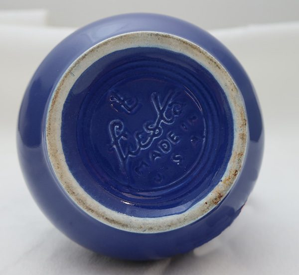 Original Cobalt Blue Fiesta Syrup Pitcher