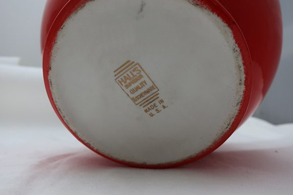 Hall Chinese Red Sundial Cookie Jar