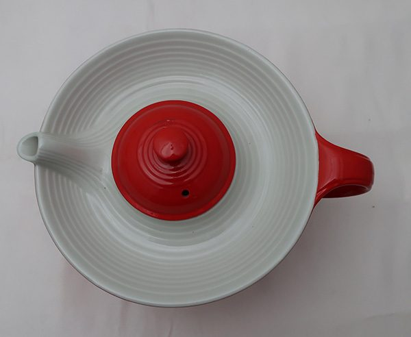 Hall Chinese Red Melody Teapot