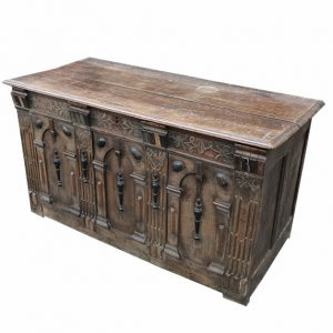 Jacobean Carved Blanket Chest- 17th Century