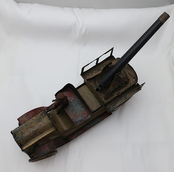 Schieble Military Cannon Toy Truck with Driver