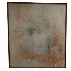 1974 Large Abstract Painting on Canvas by Jeanne Ross-69""