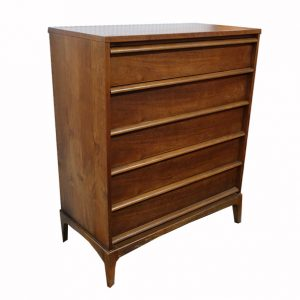Lane Midcentury Rhythm Tall Boy Dresser-5 Drawer