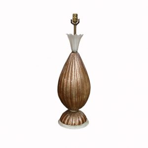 Barovier & Toso Italian Midcentury Pineapple Table Lamp