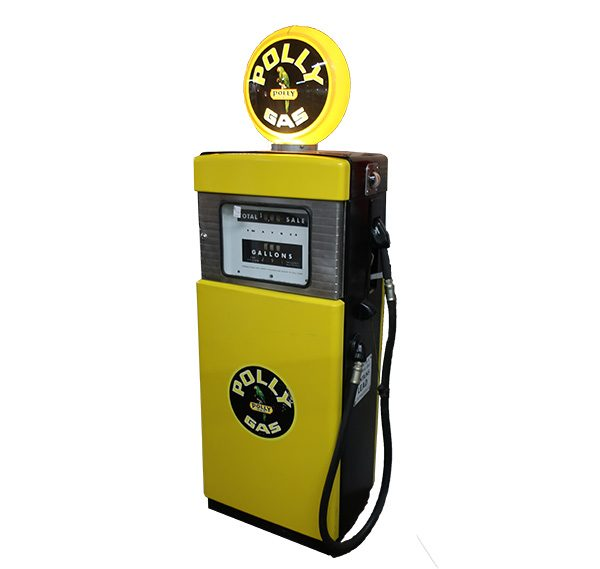 "Yellow Polly Gas Pump-74"" tall"