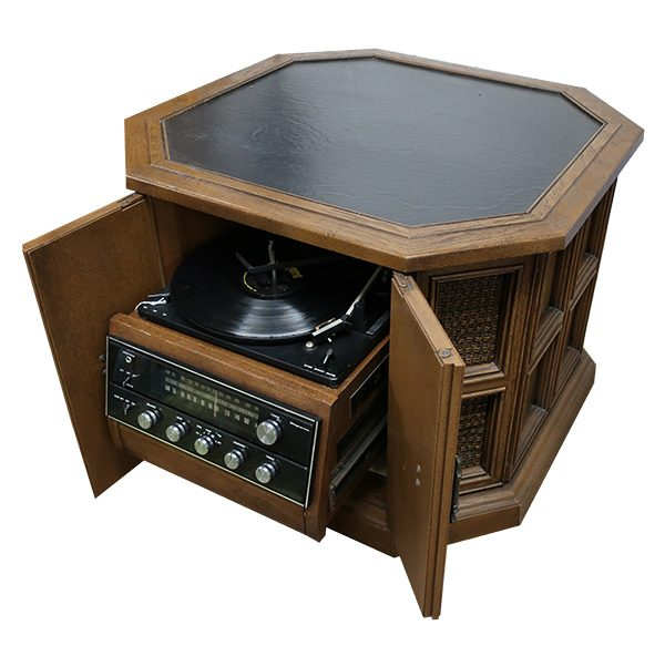 Mid Century Magnavox Stereo End Table