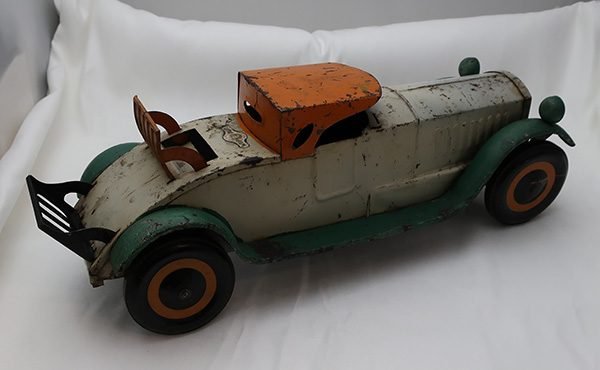 """Schieble Pressed Steel Toy Coup Roadster Car-17 ½"""""""