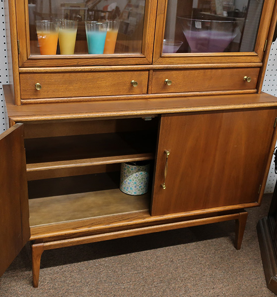Solid Wood Mid Century China Cabinet