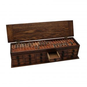 Oak Watchmakers Cabinet-18 Drawers