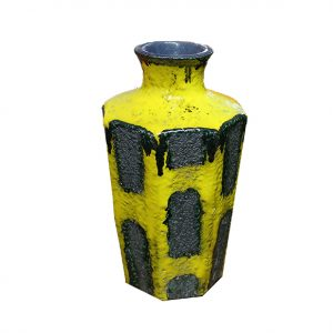 Gerlach Midcentury West Germany Optic Vase- Yellow