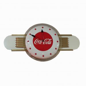 1940's Art Deco Coca-Cola Wall Clock-Working