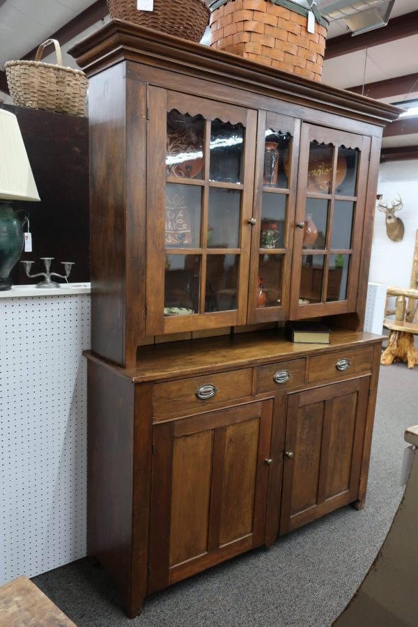 Pennsylvania Dutch Cupboard with Original Finish and Glass